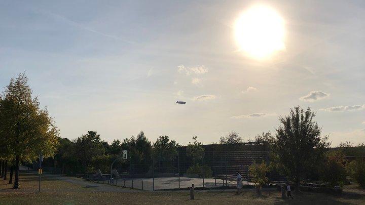 Zeppelin über Hannover