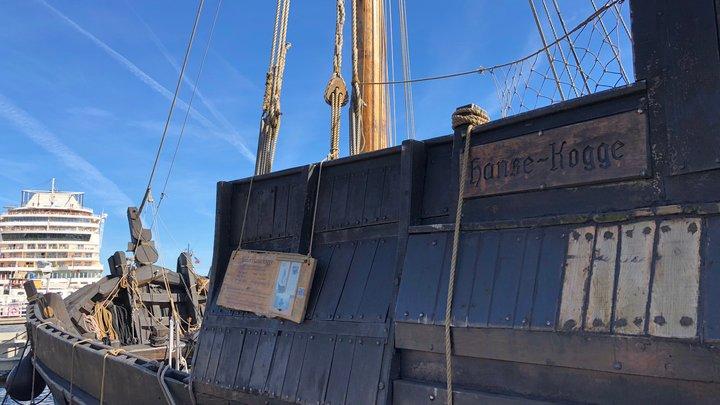 Eine Hanse-Kogge bei Kiel