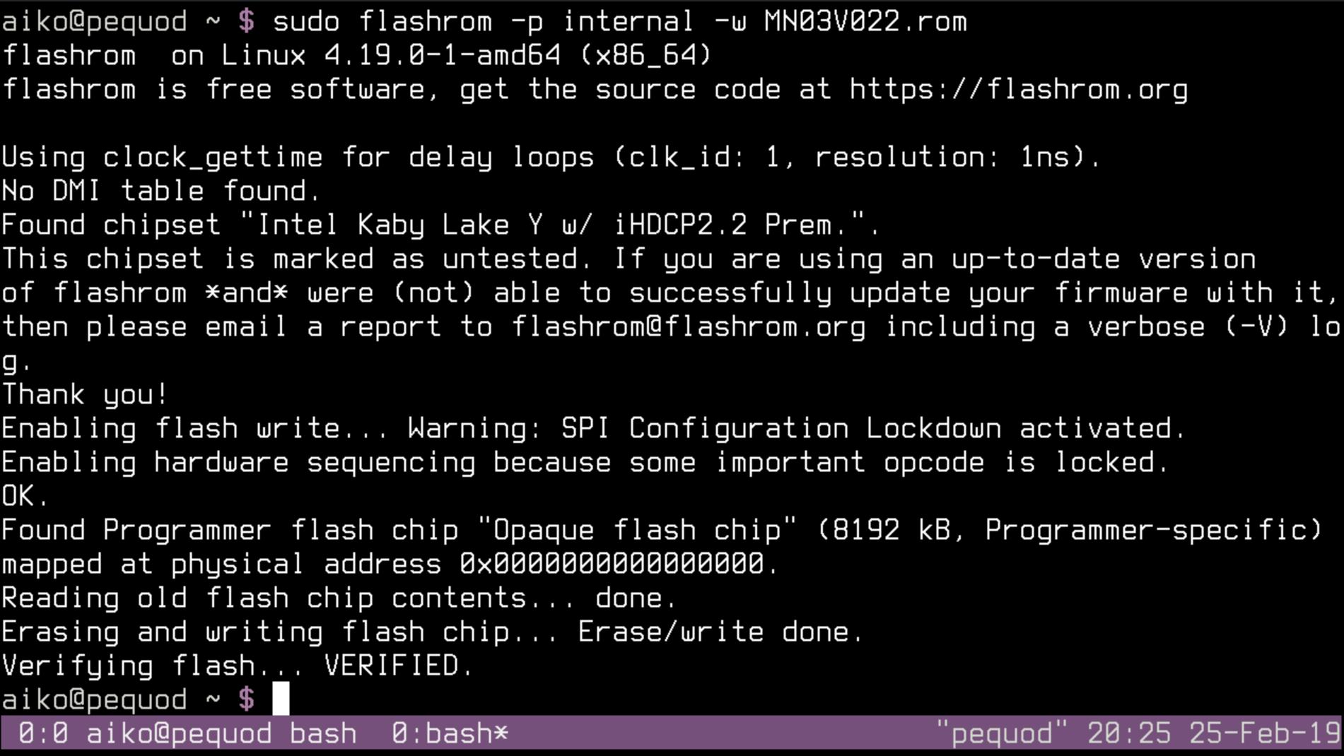 Flashrom Debian