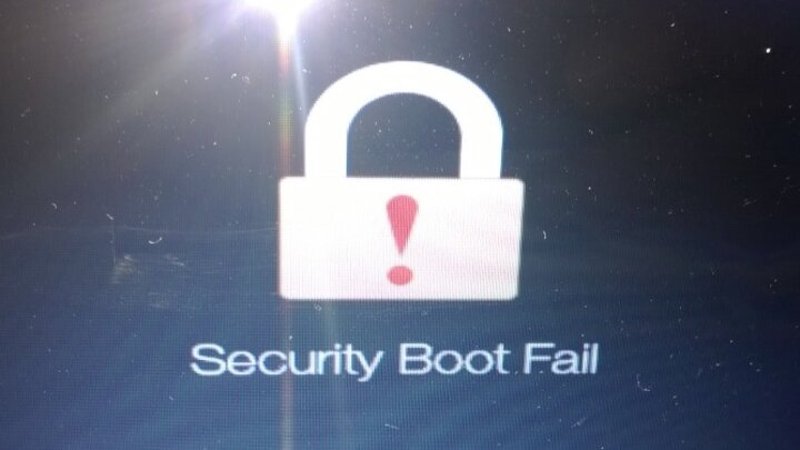 Game Over Secure Boot Fail