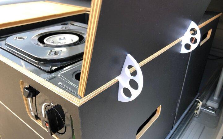 Windschutzhalterung aus dem 3D-Drucker