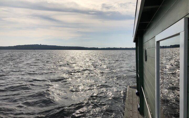 Fahrt über den Wolziger See