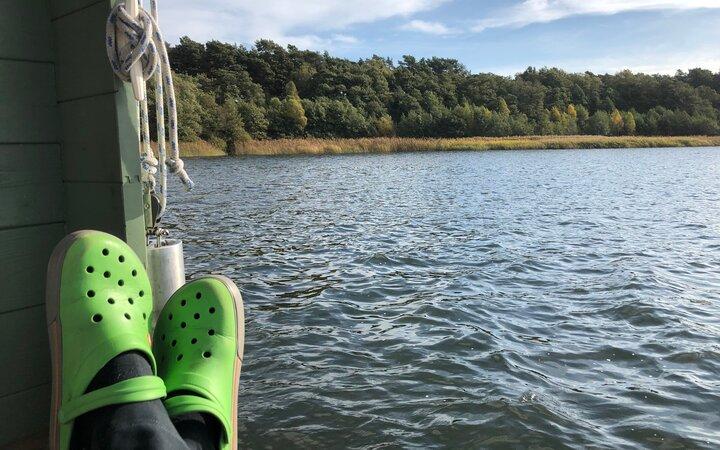 Relaxen auf dem großen Storkower See