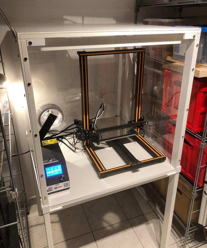 Einhausung des 3D-Druckers